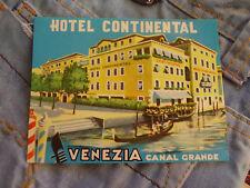 Kofferaufkleber Gepäckaufkleber Lagguagesticker Hotel Continental Venezia Italia