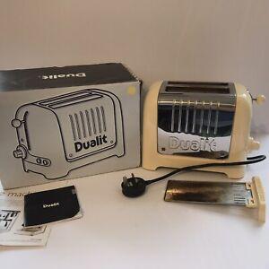 Dualit 2 Slice Toaster Cream + Stainless Steel Model DPP2 GB