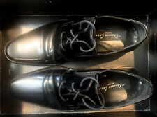 Kenneth Cole New York GENUINE Black Leather 7.5UK Men Shoes Hand Made in Italy