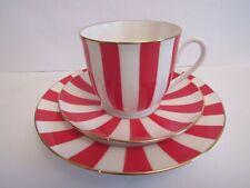 Trio set coffee/tea Russian Imperial Lomonosov bone  porcelain red new