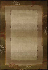 2x10 Runner Sphinx Green Modern Border 112G1 Area Rug - Approx 2' 7'' x 9' 1''