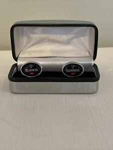 Guinness Red Pair of Cufflinks in Silver Box Gift  - Great condition