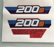 Honda 1984 200s  ATC200S side decals and warnings  Reproduction Decal