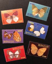 GUINEA BUTTERFLY STAMPS SET 6V 2001 MNH BUTTERFLIES WILDLIFE MOTH NATURE INSECT