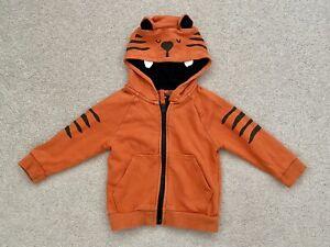 Next Kids Boys Hoodie Size 12-18 Months Orange