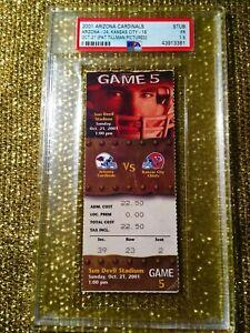 Pat Tillman Arizona Cardinals- Kansas City Chiefs 2001 NFL Ticket Stub PSA