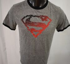 Superman Mens Superman Logo Ringer Shirt New M