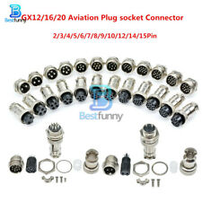 1/5/10Sets GX12/16/20 2-15Pin Aviation Plug Male&Female Panel  Socket Connector