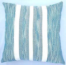Handmade Woven Aqua Blue Abstract Home Decor Cushion Cover 45x45  New