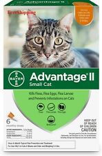 Advantage Ii Flea Control for Small Cats 5-9 lbs, 6 Pack New - FreeShipping