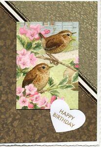 British Garden Bird Greeting Cards - Handmade - Greenfinch, Sparrow, Goldfinch
