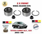 FOR TOYOTA CAMRY 2.4 3.0 VVTI CDX 2003-2004 NEW 2 X FRONT WHEEL BEARING KITS SET