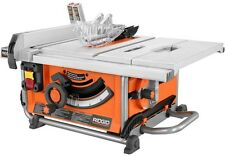 Compact Table Saw Heavy Duty Bench Blade Wheels Portable Power Tool Miter 15 Amp