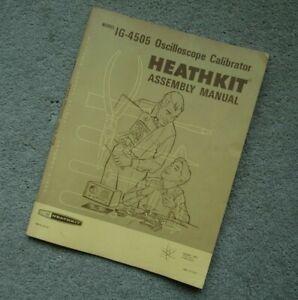 Heathkit IG-4505 Oscilloscope Calibrator Original Manual, No Schematic