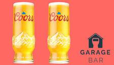 More details for set of 2 coors beer glasses pint 20oz brand new 2021 design