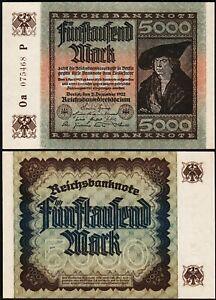 Germany 5000 Mark 1922, UNC, P-81, Completely Watermark