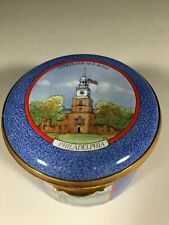 Awesome Hand Painted Staffordshire Enamel Trinket Box - Limited Edition 96/200