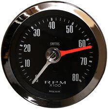 Smiths Classic Max Hand Tachometer / Rev Counter 80mm 0-8K RPM Chrome Bezel