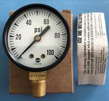 """Ametek U.S. Gauge- D-82, 2"""" 100psi, 1/4"""" NPT Pressure Gauge. New in Box"""
