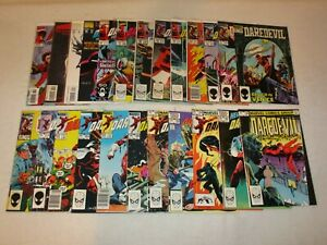 DAREDEVIL COPPER AGE LOT (24 COMICS) 254 FIRST TYPHOID MARY 257 VS PUNISHER