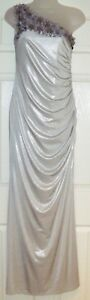 BNWT LIPSY SILVER EVENING DRESS SZ 12 BALLGOWN COCKTAIL CRUISE PARTY SUMMER HOLS