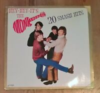 Hey-Hey-It's The Monkees : 20 Smash Hits Vinyl LP Comp 33rpm 1985 PLAT005
