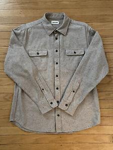 Taylor Stitch Oat Donegal Yosemite Shirt Size 44 XL