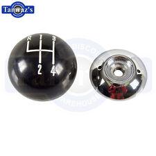 "67-68 Camaro Shifter Shift Knob Black & Chrome Ball 5/16"" 2pc"