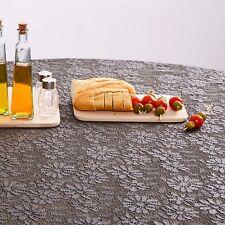 GARTENTISCHDECKE Rund Wetterfeste Gartentischdecke Tischdecke + Franse