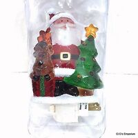 St Nicholas Square Christmas  Wreath Night Light New NIB