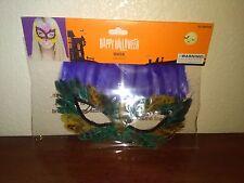 Halloween  Purple Feather  Mask