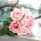 Artificial♡Rose Peony Silk Flowers Leaf Bouquet Home Floral Wedding Garden Decor