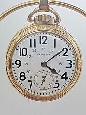 Vintage Hamilton 992B 16 Size Pocket Watch Recently Serviced 21 Jewel - 5A