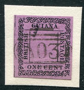 BRITISH GUIANA (25174): Fournier forgery of 1862 1c Type-set