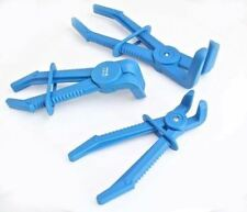 A-3FLEXI 3pc Flexible Hose Clamp Pipe Pliers Set 90° Degree Angled Clamping Tool