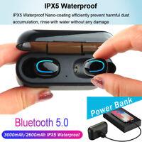 Headset TWS Twins Bluetooth 5.0 Earbuds Wireless Earphones 5D Stereo Headphones