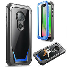 For Moto G7 Play Case,Poetic Shockproof Cover [Scratch Resistant Back] Blue