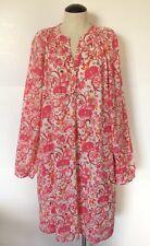 Lilly Pulitzer Mallory Shirt Dress Lawn Pink Floral Women's Size 8 Msrp $168
