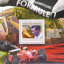 W COMORO Y2010 (3) FORMULA 1 CAR RACING JIM CLARK SOUVENIR SHEET