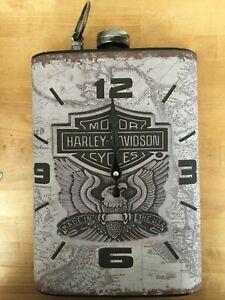 Large Wall Clock Retro Man Cave Heinekin Carlsberg Budweiser Harley Davidson