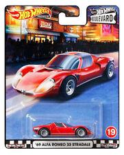 Hot Wheels '69 Alfa Romeo 33 Stradale [Red] Boulevard 2020 - New/VHTF [E-808]