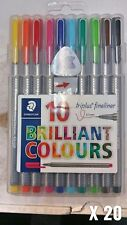 20 X 10 STAEDTLER TRIPLUS FINELINERS | 0.3MM | STATIONERY & SCHOOL EQUIPMENT