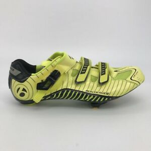 Bontrager Mens RL Road Cycling Shoes Yellow Striped 436328 Buckle Hook Loop 13 M