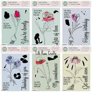 Studio Light A6 Veer & Moon Clear Stamps - Flower Language Sets - Poppy - Rose