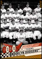 Brooklyn Dodgers 2020 Topps Decade's Best Series 2 5x7 Gold #DB-7 /10