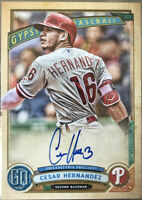 2019 Topps Gypsy Queen Cesar Hernandez On Card Auto! Phillies