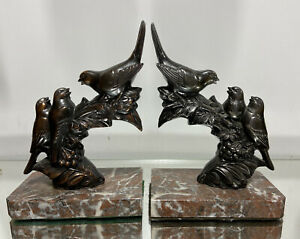 VTG. Art Deco Bookends French Bookends by FRECOURT Doorstops