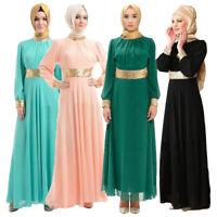 Muslim Abaya Jilbab Islamic Kaftan Women Long Vintage Maxi Dress Robe Dubai Maxi