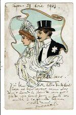 CPA-Carte Postale-FRANCE-Des mariés dessinés -1903 -VMO15781