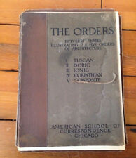 1904 American School of Correspondence Chicago 5 Orders of Architecture Plates